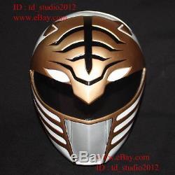 11 Costume Cosplay Mask Mighty Morphin White Tiger Power Ranger Helmet PR01