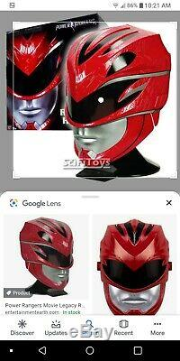 11 scale cosplay Mighty Morphin Power Rangers Legacy Red Ranger helmet