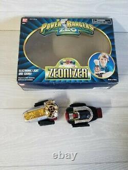 1996 Bandai Power Rangers Zeo Gold Ranger Zeonizer with Original Box Cosplay #2577