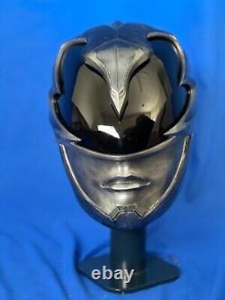 2017 Power Rangers Helmet cosplay prop! 2017 Black ranger collectible helmet 11