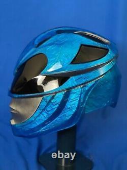 2017 Power Rangers Helmet cosplay prop! 2017 blue ranger collectible helmet 11