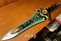 24k green power ranger legacy dragon dagger
