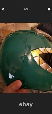 ANIKI Green Power Ranger Cosplay Helmet BITS Version