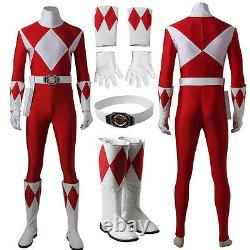 Adult Costume Mens Costumes Red Ranger Costume Power Ranger Halloween Cosplay