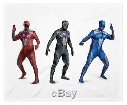 Adult Mens Power Rangers BlackRedBlue Ranger Cos Play Halloween Costume