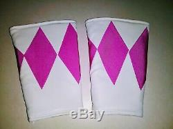 Adult Pink Power Ranger L XL with Real Boots Size 7 Cosplay Halloween Comicon