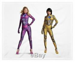 Adult Womens Power Rangers Pink OR Yellow Ranger Cos Play Halloween Costume