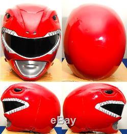 Aniki Cosplay Power Rangers Zyuranger Tyranno Red Ranger Helmet Costume
