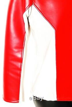 Aniki Cosplay Red Buster Power Rangers Beast Morphers Red Ranger Leather Jacket
