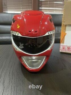 Aniki Cosplay Red Mighty Morphin Power Ranger Helmet- NEW NEVER USED