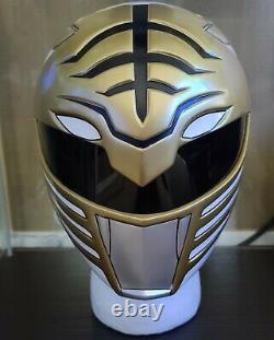 Aniki Cosplay White Ranger Mighty Morphin Power Rangers Helmet Prop Dairanger