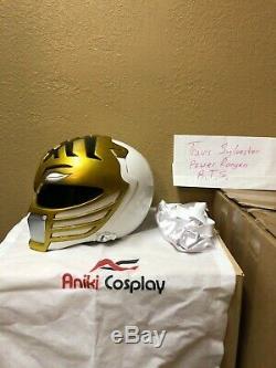 Aniki made Power rangers movie white ranger cosplay helmet