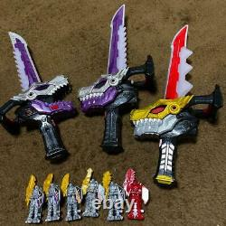 BANDAI Ryusoulger Toy Weapon Set Power Rangers Dino Fury Collection Cosplay USED