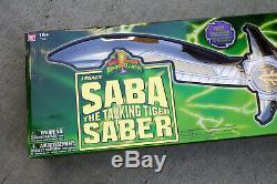 Bandai MMPR Power Rangers Legacy Cosplay White Ranger Electronic Sword Saba New