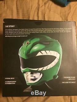 Bandai Mighty Morphin Power Rangers Legacy Green Ranger Helmet 11 Scale Cosplay