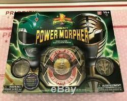 Bandai Mighty Morphin Power Rangers Legacy Green & White Ranger Morpher COSPLAY