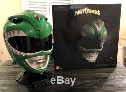 Bandai Power Ranger MMPR Legacy Green Ranger Helmet Cosplay 11 TV Prop