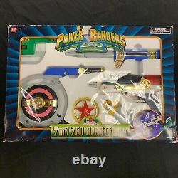 Bandai Power Rangers Zeo 7-IN-1 Blaster Weapon Set Toy Cosplay Complete In Box