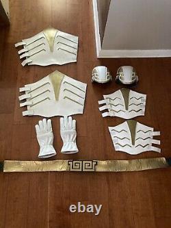 Bat In The Sun inspired Mighty Morphin Power Rangers White Ranger Cosplay Lot