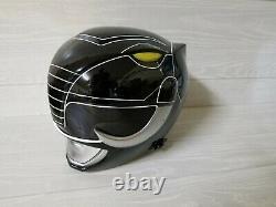 Black Power Ranger Helmet Mighty Morphin Cosplay Mask Costume (Aniki Cosplay)