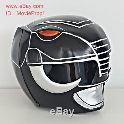 Black Power Ranger Helmet Mighty Morphin Halloween Costume cosplay Movie Prop TV