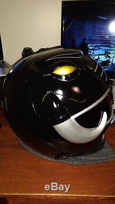 Black Power Rangers cosplay helmet