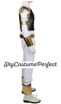 CUSTOM MADE! FREE WW SHIP Mighty Morphin Power Ranger White Tiger Cosplay BOOTS