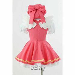Cardcaptor Sakura kinomoto sakura cosplay fight costume Magical pink dress