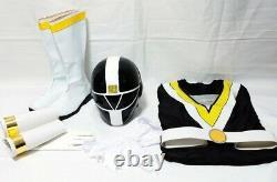 Chikyu Sentai Fiveman Five Black Helmet Gloves Belt Boot Suit Cosplay 1990