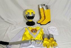 Choujuu Sentai Liveman Yellow Lion Helmet Gloves Belt Boot Suit Cosplay 1988