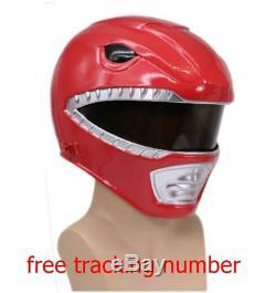 Cosplay Fancy Full Head Red Power Rangers Morphin Costume Hero Adult Helmet
