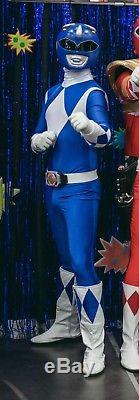 Cosplay Mighty Morphin Power Rangers BLUE RANGER complete outfit with Helmet