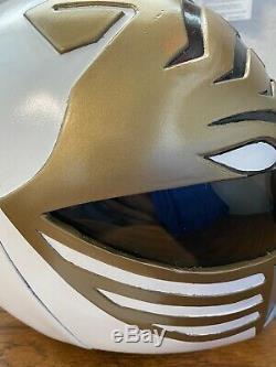 Custom Cosplay White Ranger Helmet Tommy Mighty Morphin Power MMPR