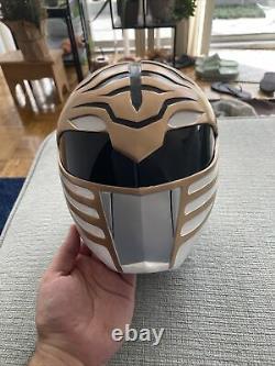 Custom Mighty Morphin White Ranger Cosplay Helmet
