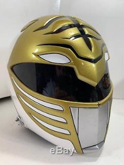 Custom Power Rangers Legacy White Ranger Cosplay Helmet