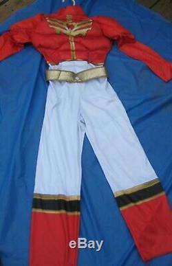 Disguise Red Power Rangers MegaForce Costume Cosplay Jumpsuit Child Size Med 7-8