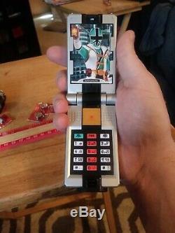 ES Power Rangers Samurai Samuraizer Morpher Sounds Flip Phone Cosplay Lot of 2