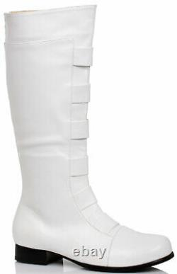 Ellie Shoes Mens 1 Inches Heel Knee High Boots(Sizes) M Wht