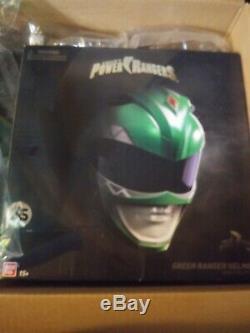Free shipping! Power Rangers Legacy Green Ranger Helmet 11 Full Scale Cosplay