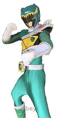 Green Dino Charge Power Ranger Cosplay Suit