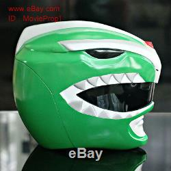 Green Dino Thunder Power Ranger Helmet Mighty Morphin Halloween Costume cosplay