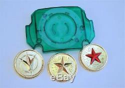 Green Lens & 3 Power Coins gold Made for Bandai Legacy Master Ranger Cosplay