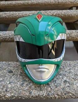 Green Mighty Morphin Power Ranger Helmet Aniki Cosplay Prop