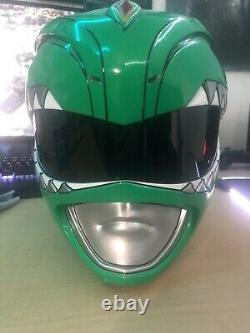 Green Mighty Morphin Power Ranger helmet SIGNED BY JDF (Aniki Cosplay)