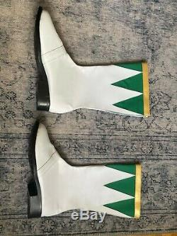 Green Power Ranger Boots, Cosplay Mighty Morphin Power Rangers Size 10 US NEW