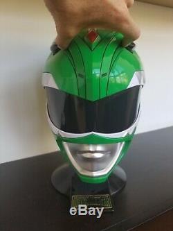 Green Power Ranger Cosplay Helmet USED