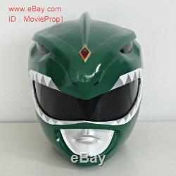Green Power Ranger Helmet Mighty Morphin Halloween Costume cosplays Props masks