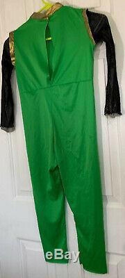 Green Power Ranger Ninja Storm W Chest Halloween Costume/Cosplay Child Size 7-10