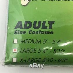 Green Power Rangers Morphsuit Adult Large Halloween Costume Cosplay Fandom New