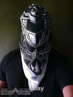 Green White Drakkon Ranger bandana mask Power slayer cosplay MMA gym